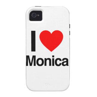 amo a Mónica Vibe iPhone 4 Carcasa