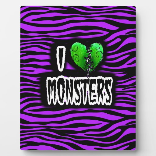 Amo a monstruos placas con foto