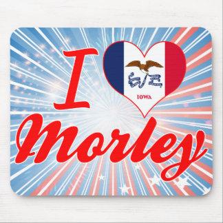 Amo a Morley, Iowa Tapete De Ratón