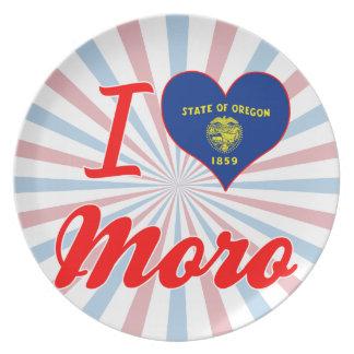 Amo a Moro, Oregon Plato Para Fiesta