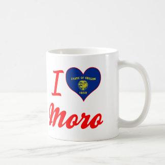 Amo a Moro, Oregon Tazas De Café