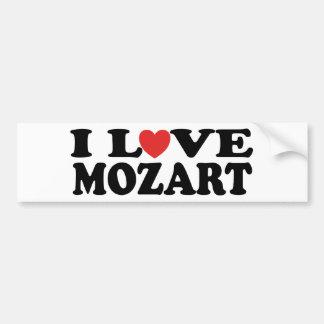 Amo a Mozart Etiqueta De Parachoque