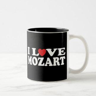 Amo a Mozart Taza Dos Tonos