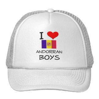 Amo a muchachos andorranos gorras