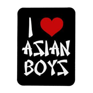 Amo a muchachos asiáticos iman rectangular