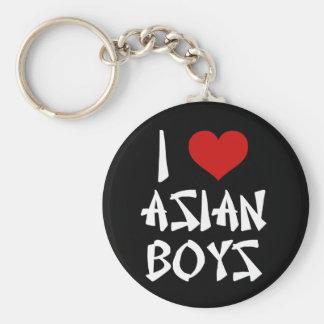 Amo a muchachos asiáticos llavero redondo tipo pin