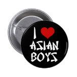 Amo a muchachos asiáticos pin redondo 5 cm