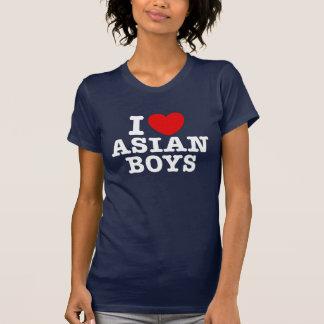Amo a muchachos asiáticos camiseta