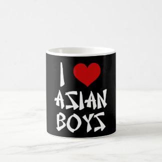 Amo a muchachos asiáticos taza