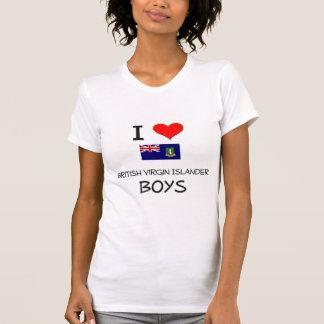 Amo a muchachos británicos del isleño de la Virgen Camisetas