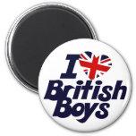 Amo a muchachos británicos iman de frigorífico