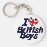 Amo a muchachos británicos llaveros