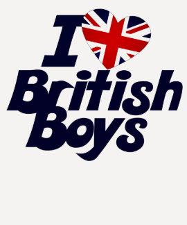 Amo a muchachos británicos playera