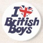 Amo a muchachos británicos posavasos manualidades
