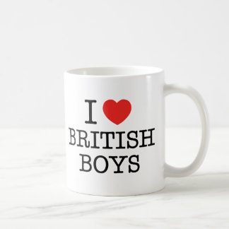 Amo a muchachos británicos taza clásica