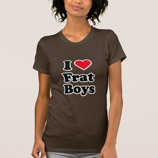 Amo a muchachos camiseta