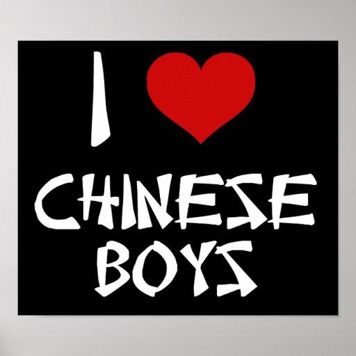 Amo a muchachos chinos impresiones