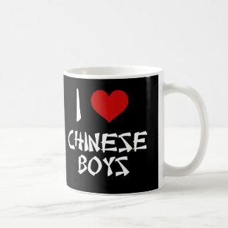 Amo a muchachos chinos taza clásica