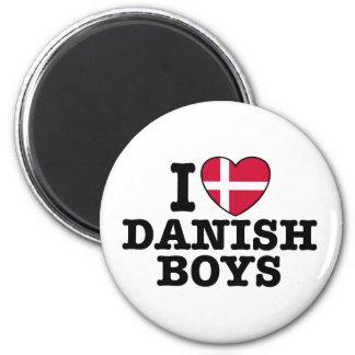 Amo a muchachos daneses imán redondo 5 cm