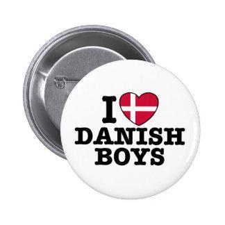 Amo a muchachos daneses pin redondo 5 cm