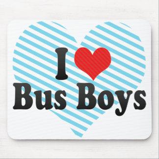 Amo a muchachos de autobús alfombrillas de ratones