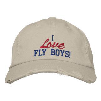 ¡Amo a muchachos de la mosca! Gorra de la fuerza a Gorras De Beisbol Bordadas