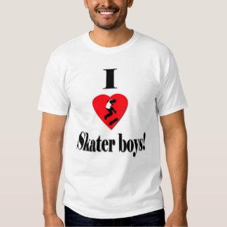 Amo a muchachos del patinador camisas