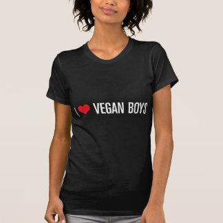 Amo a muchachos del vegano camiseta