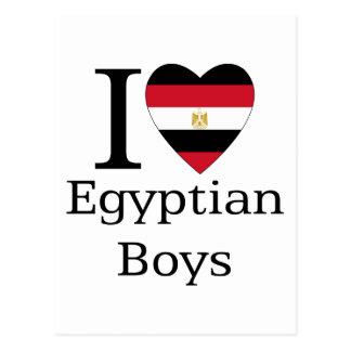 Amo a muchachos egipcios tarjeta postal