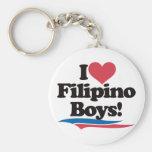 Amo a muchachos filipinos llaveros personalizados
