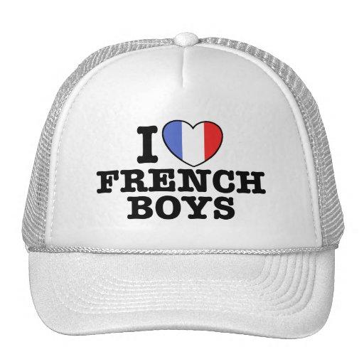 Amo a muchachos franceses gorro de camionero