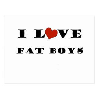 Amo a muchachos gordos tarjetas postales