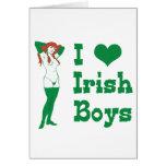 Amo a muchachos irlandeses felicitación