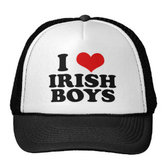 amo a muchachos irlandeses gorros bordados
