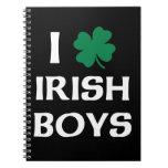 Amo a muchachos irlandeses libreta