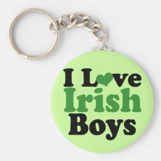 Amo a muchachos irlandeses llavero redondo tipo pin