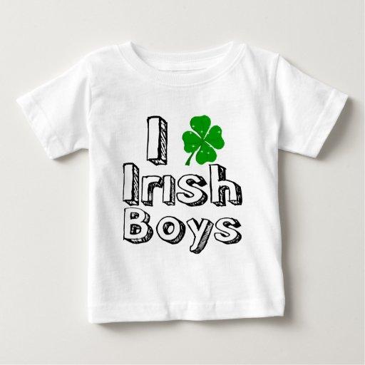 ¡Amo a muchachos irlandeses! Playera De Bebé