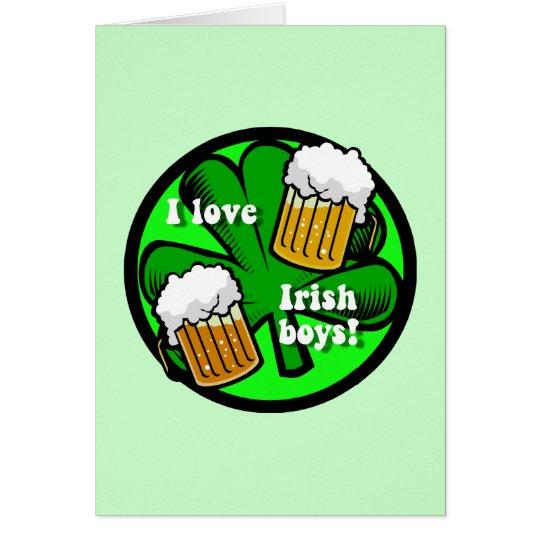 amo a muchachos irlandeses tarjeta de felicitación