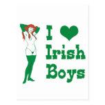 Amo a muchachos irlandeses tarjeta postal