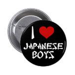 Amo a muchachos japoneses pin redondo de 2 pulgadas