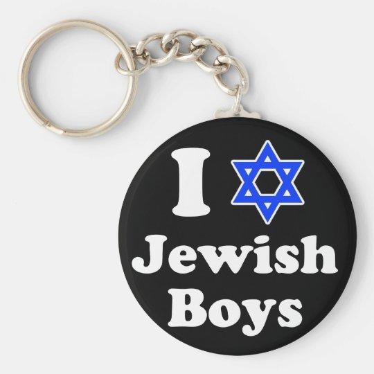Amo a muchachos judíos llavero redondo tipo pin