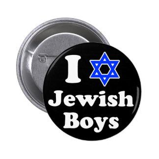 Amo a muchachos judíos pins