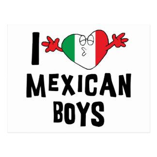 Amo a muchachos mexicanos tarjeta postal