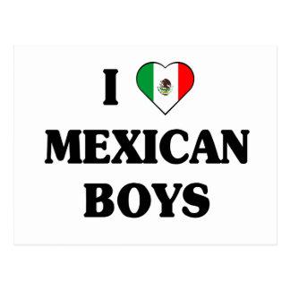 Amo a muchachos mexicanos tarjetas postales