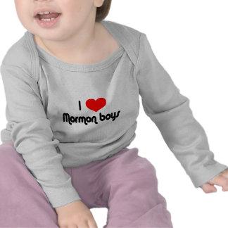 Amo a muchachos mormones camisetas