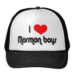 Amo a muchachos mormones gorros bordados