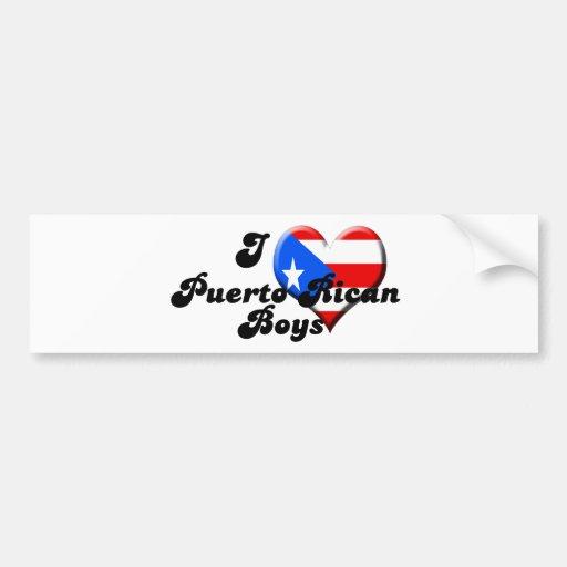 amo a muchachos puertorriqueños pegatina de parachoque