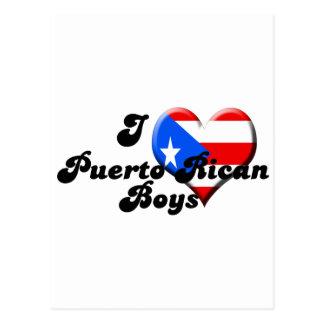 amo a muchachos puertorriqueños tarjeta postal
