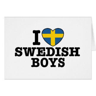 Amo a muchachos suecos tarjeton