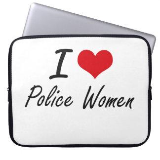 Amo a mujeres de la policía manga portátil